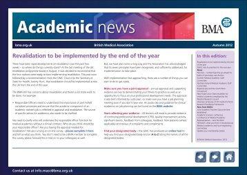 Academic News Autumn 2011 - BMA