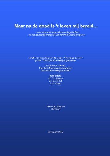 Maar na de dood is 't leven mij bereid… - Igitur - Universiteit Utrecht