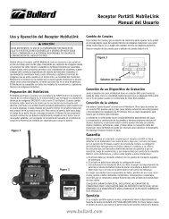 www.bullard.com Receptor Portátil MobileLink Manual del Usuario