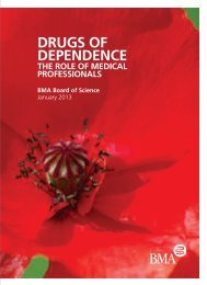 DRUGS OF DEPENDENCE - BMA