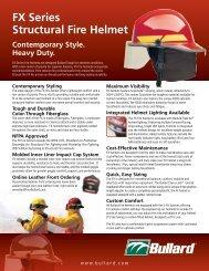 FX Series Structural Fire Helmet - Bullard