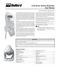 White Volume Polyethylene Bullard PA1BT Breathing Tubes for Cc20 and Rt Hoods Standard Capacity
