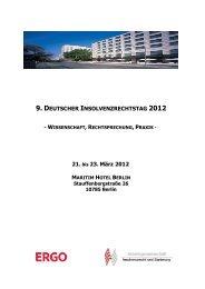 9. DEUTSCHER INSOLVENZRECHTSTAG 2012 21. bis 23. März ...
