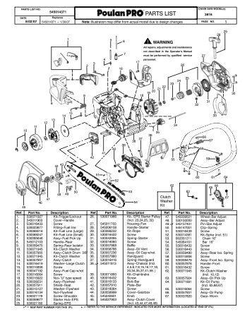 IPL, Partner, P738, 952802188, 952802189, 2011-03, Chain Saw