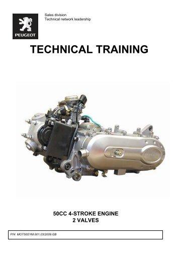 50cc 4-stroke engine 2 valves - Scootergrisen