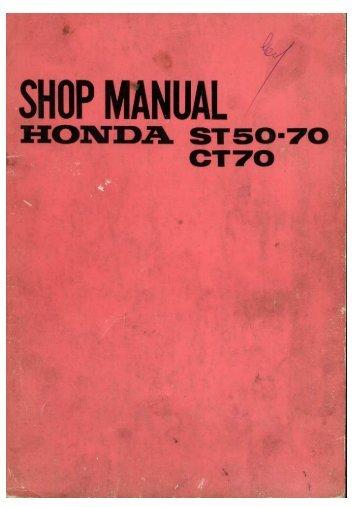 Honda Dax ST-50-70, CT70 servicemanual - Scootergrisen