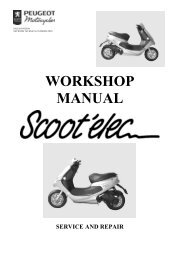 Peugeot Scoot'elec servicemanual - Scootergrisen