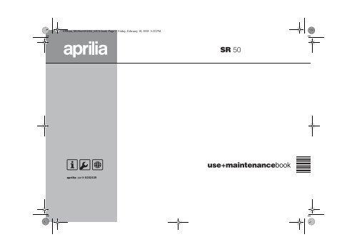 aprilia sr brugermanual scootergrisen aprum_sr