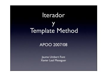 Iterador y Template Method