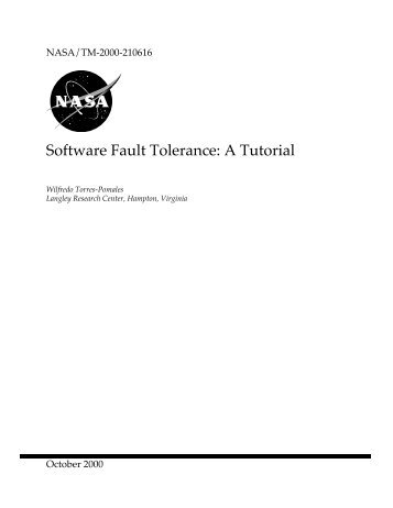 Software Fault Tolerance: A Tutorial