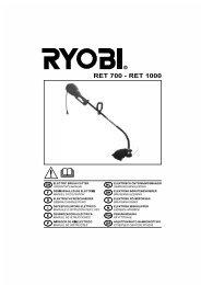 RET 700 - RET 1000 - Ryobi