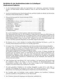 Richtlinien für die Stadtmeisterschafen im Schießsport ... - Anreppen