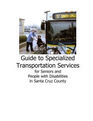 Guide to Specialized Transportation Services - SCCRTC