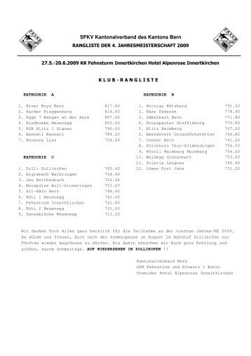 SFKV Kantonalverband des Kantons Bern