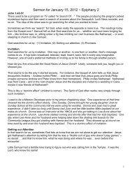 Sermon for January 15, 2012 ~ Epiphany 2 - Hope Lutheran Church