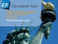 EF Tours – NYC Trip Information - North Park Secondary School