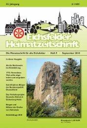 Die Monatsschrift für alle Eichsfelder · Heft 9 · September 2010 54 ...