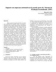 impacto do sistema de produção formalizado - Six Sigma Brasil