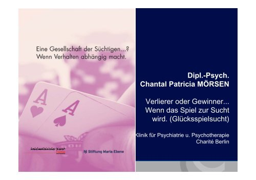 Psych. Chantal Patricia MÖRSEN - Stiftung Maria Ebene