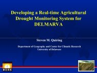 Developing a Real-time Agricultural Drought Monitoring System for ...