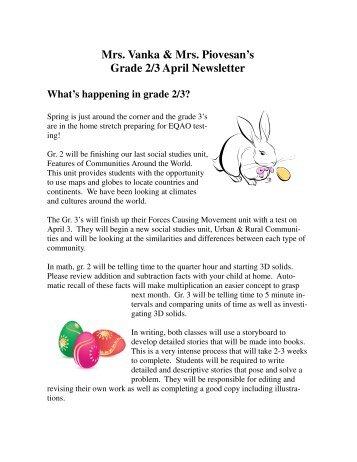 April Newsletter - Grand Erie District School Board