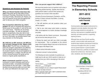 Report Card Brochure - Grand Erie District School Board