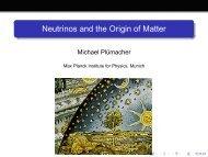 Neutrinos and the Origin of Matter - Physics Seminar