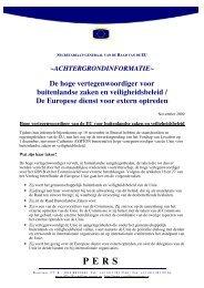 De hoge vertegenwoordiger voor buitenlandse zaken en ... - Europa