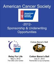 American Cancer Society - Find a Ball or Gala in my area