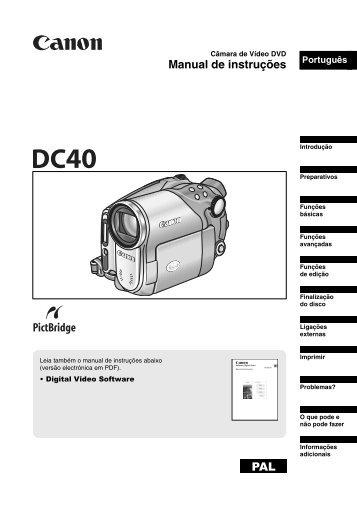 Manual de instruções PAL - Canon Europe