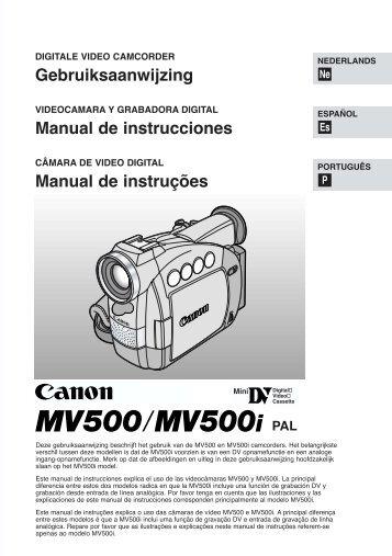 Gebruiksaanwijzing Manual de instrucciones ... - Canon Europe