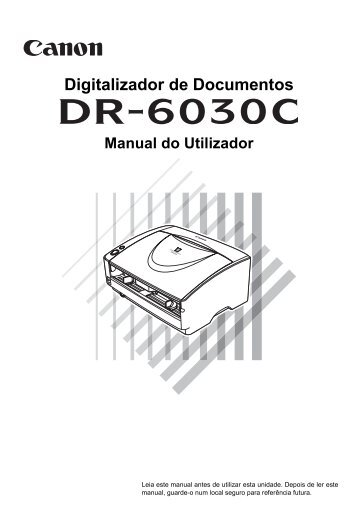 DR-6030C User's Guide - Canon Europe