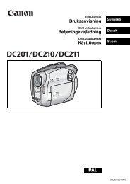 Bruksanvisning Betjeningsvejledning Käyttöopas PAL - Canon Europe