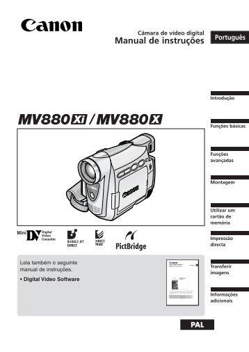 Manual de instruções - Canon