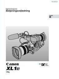 Betjeningsvejledning - Canon Europe