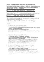 Physik * Jahrgangsstufe 8 * Elektrische Energie und Leistung 1 1 ...