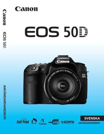 SVENSKA ANVÄNDARHANDBOK - Canon Europe
