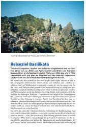 Reiseziel Basilikata