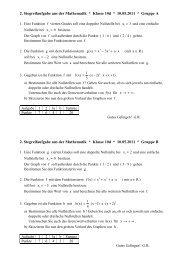 2. Stegreifaufgabe aus der Mathematik * Klasse 10d * 10.05.2011 ...