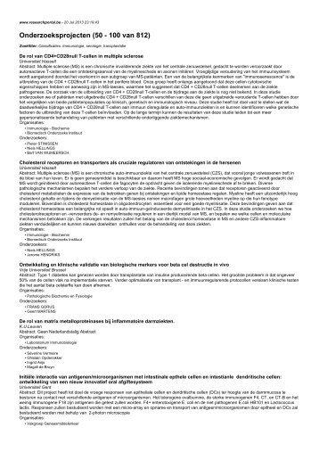 Onderzoeksprojecten (50 - 100 van 812)