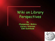 Wiki on Library Perspectives - DSpace at Indian Institute of ...