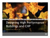 Designing High Performance Buildings and CHP - Houston ...
