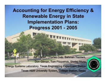 Accounting for Energy Efficiency & Renewable Energy in State ...