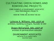 cultivating green homes and remodeling projects - Houston ...
