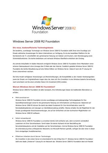 Windows Server 2008 R2 Foundation - aobis