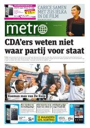 CDA'ers weten niet waar partij voor staat - Metro
