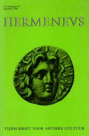 HERMENEUS NUMMER 5 - 1999 - Tresoar