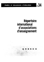 Répertoire international d'associations d ... - unesdoc - Unesco