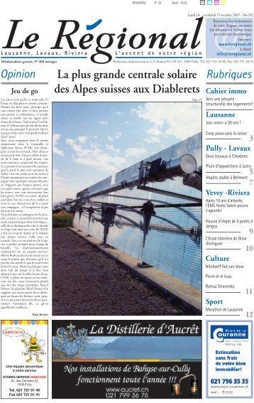La plus grande centrale solaire des Alpes suisses aux Diablerets