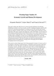 Working Paper Number 18 Economic Growth and Human ...